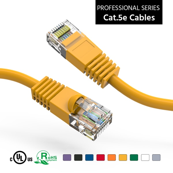 Bestlink Netware CAT5E UTP Ethernet Network Booted Cable - 100ft-Yellow 100511YW