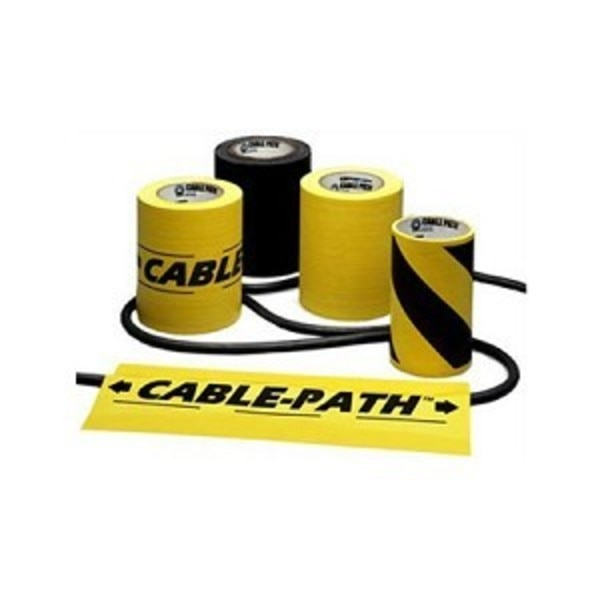 "Electriduct Cable Path Tape 6"" W x 30yds- Yellow Printed TAPE-CP-6-YP"
