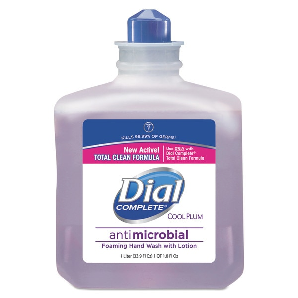 Dial Professional Antimicrobial Foaming Hand Wash,  Cool Plum Scent,  1000mL Bottle 2340081033