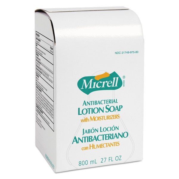 Micrell Antibacterial Lotion Soap Refill,  Light Scent,  Liquid,  800 mL 9757-12