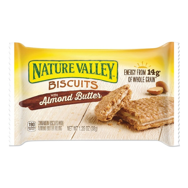 Nature Valley Biscuits,  Cinnamon with Almond Butter,  1.35 oz Pouch,  PK16 GEM47879