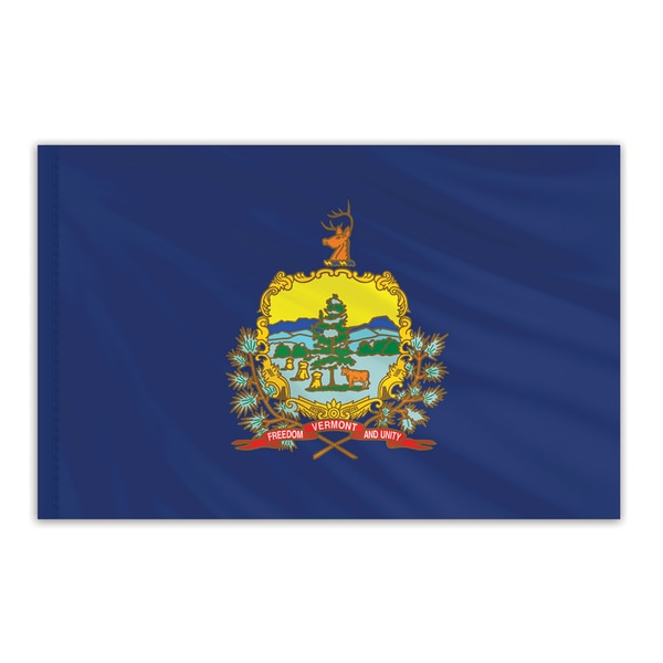 Global Flags Unlimited Vermont Indoor Nylon Flag 6'x10' 200678