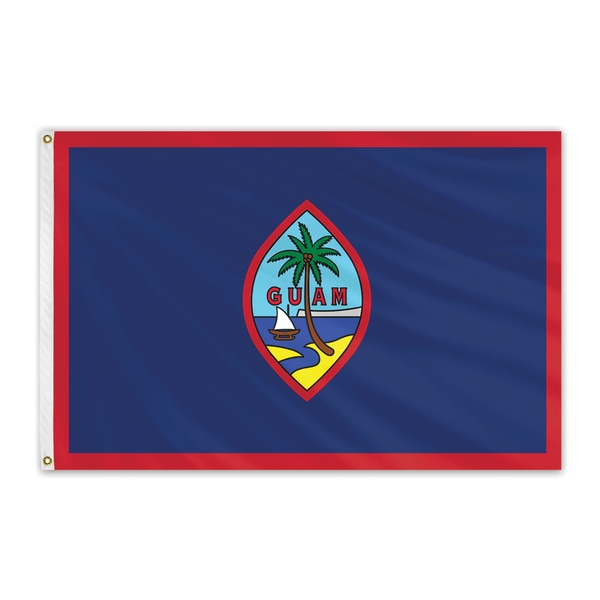 Global Flags Unlimited Guam Outdoor Nylon Flag 6'x10' 200772