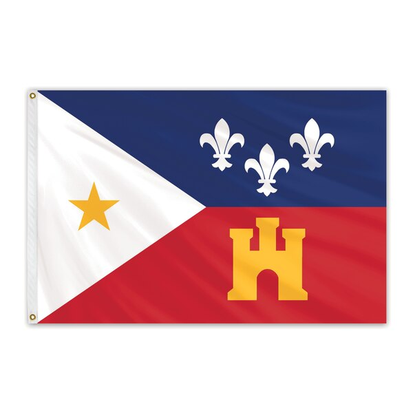 Global Flags Unlimited Acadiana Outdoor E Poly Flag 3'x5' 201040