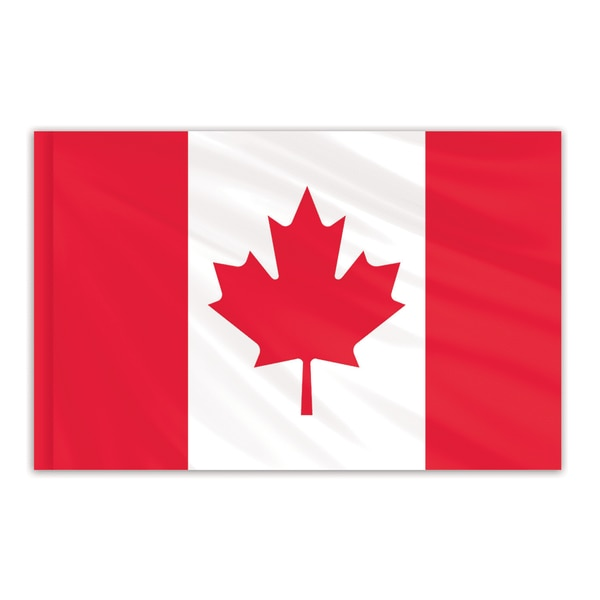 Global Flags Unlimited Canada Indoor Nylon Flag 4'x6' with Gold Fringe 201428F