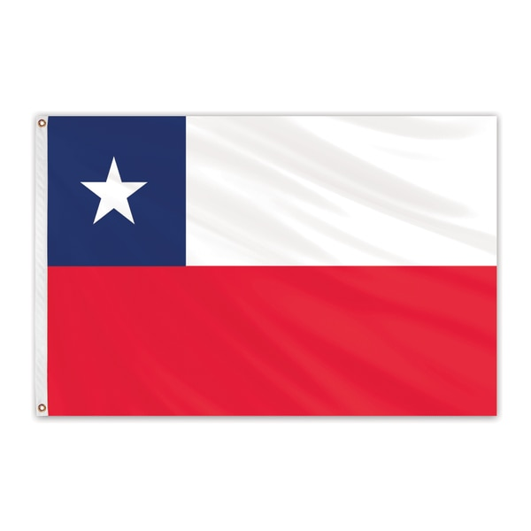 Global Flags Unlimited Chile Outdoor E Poly Flag 3'x5' 201497