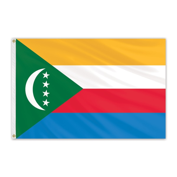 Global Flags Unlimited Comoros Outdoor Nylon Flag 2'x3' 201528