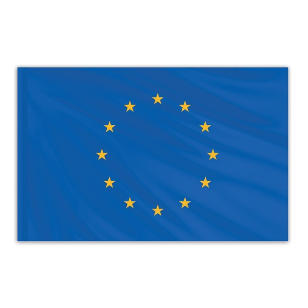 Global Flags Unlimited Europe Indoor Nylon Flag 3'x5' with Gold Fringe 201788F