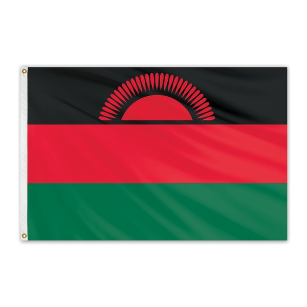 Global Flags Unlimited Malawi Outdoor Nylon Flag 4'x6' 202327