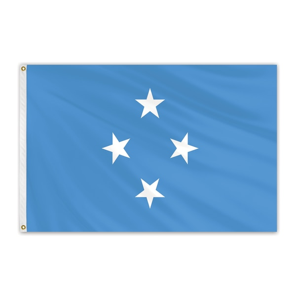 Global Flags Unlimited Micronesia Outdoor E Poly Flag 3'x5' 202414