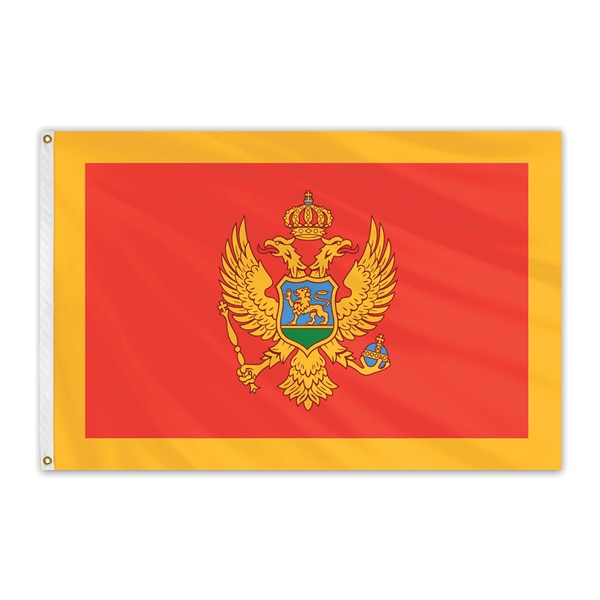 Global Flags Unlimited Montenegro Outdoor Nylon Flag 3'x5' 202451