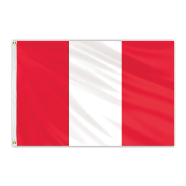 Global Flags Unlimited Peru Outdoor Nylon Flag 3'x5' 202695