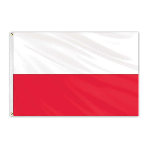 Global Flags Unlimited Poland Outdoor Nylon Flag 2'x3' 202716