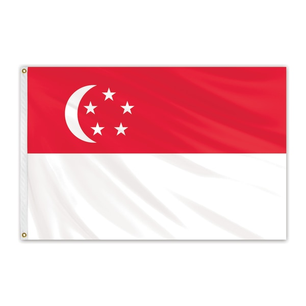 Global Flags Unlimited Singapore Outdoor Nylon Flag 2'x3' 202907