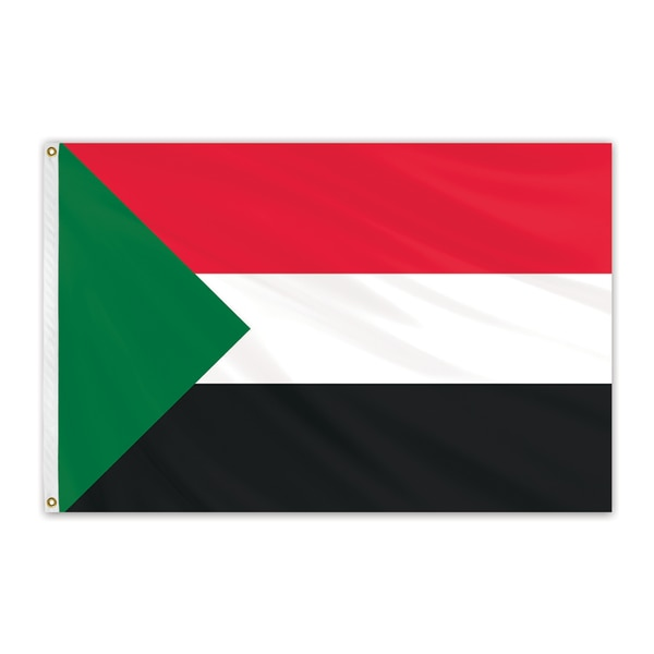 Global Flags Unlimited Sudan Outdoor Nylon Flag 3'x5' 202991