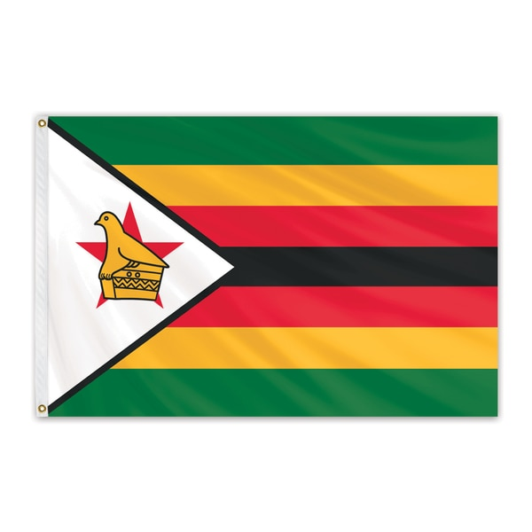 Global Flags Unlimited Zimbabwe Outdoor Nylon Flag 2'x3' 203322