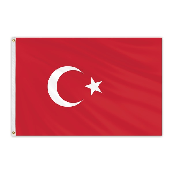 "Global Flags Unlimited Turkey Outdoor Nylon Flag 12""x18"" 203592"