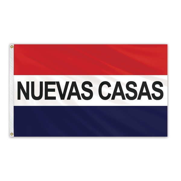 Global Flags Unlimited Nuevas Casas Message Flag 3'x5' Standard Flag 204594