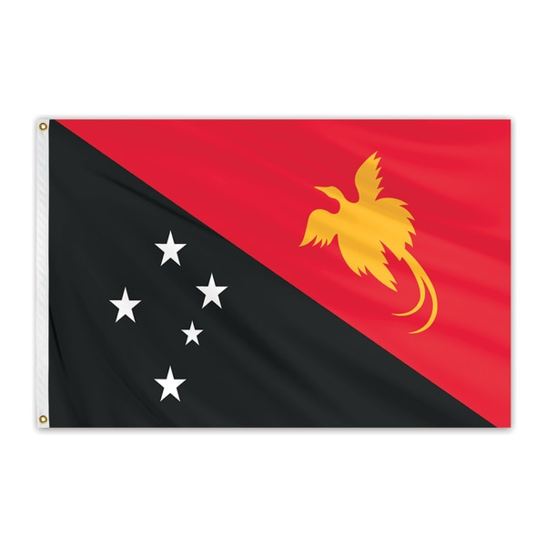 Global Flags Unlimited Clearance Papua New Guinea 4'x6' Nylon Flag CC00136