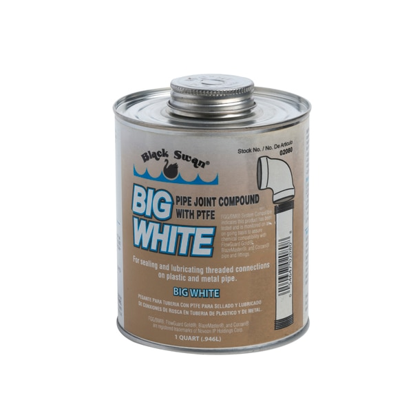 Black Swan Mfg. Co. Big White, Pipe Joint Compound 02080