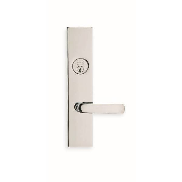 Omnia LH 560 Lever 12000 Plate Double CYL 234BS Mortise Lock Bright Chrome 12560AC00L2