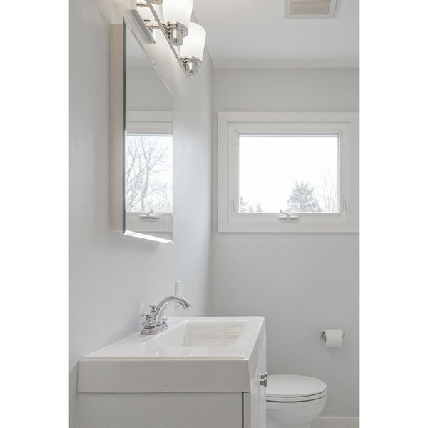 """Ketcham 20"""" x 26"""" Deluxe Recessed Mounted Beveled Edge Medicine Cabinet 176BV"""