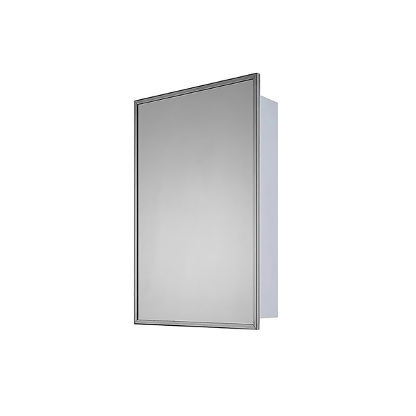 """Ketcham 20"""" x 30"""" Deluxe Surface Mounted SS Framed Medicine Cabinet 182-SM"""