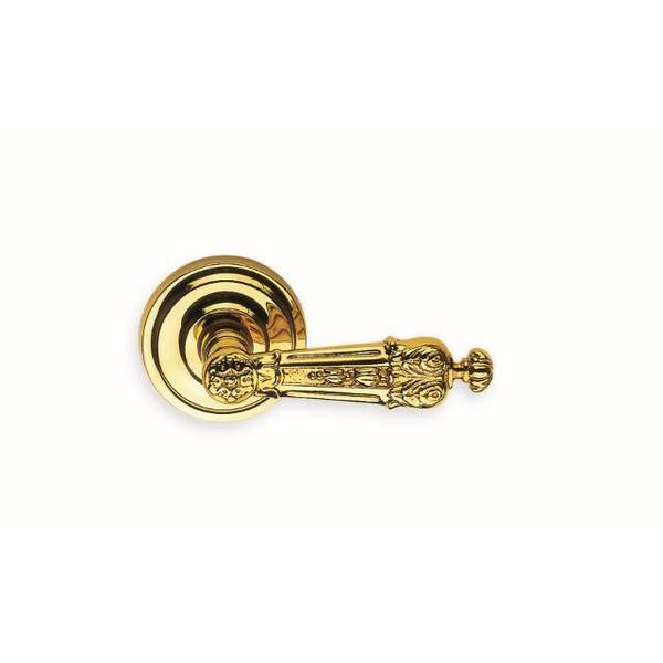"Omnia Lever Pass 2-3/8"" BS Full Lip  1-3/8"" Doors Bright Brass 231 231/00F.PA1"