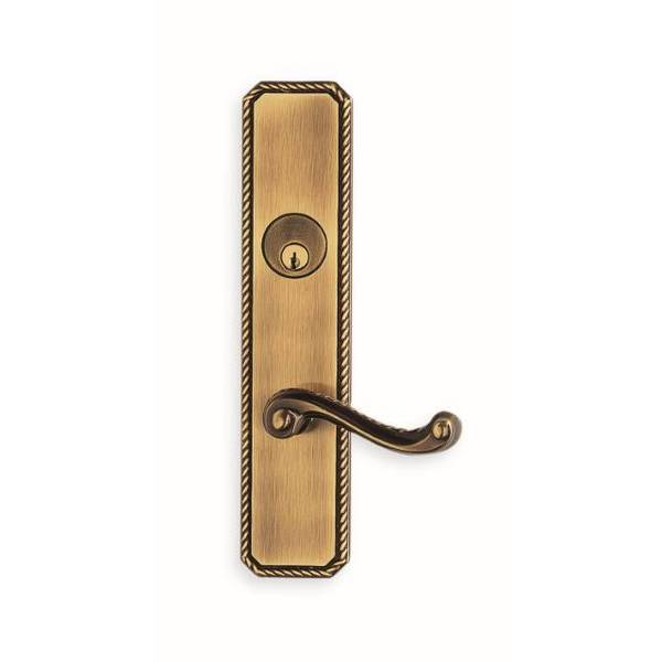 Omnia LH 570 Lever 24000 Plate Storeroom 234BS Mortise Lock Shaded Bronze 24570EW00L4