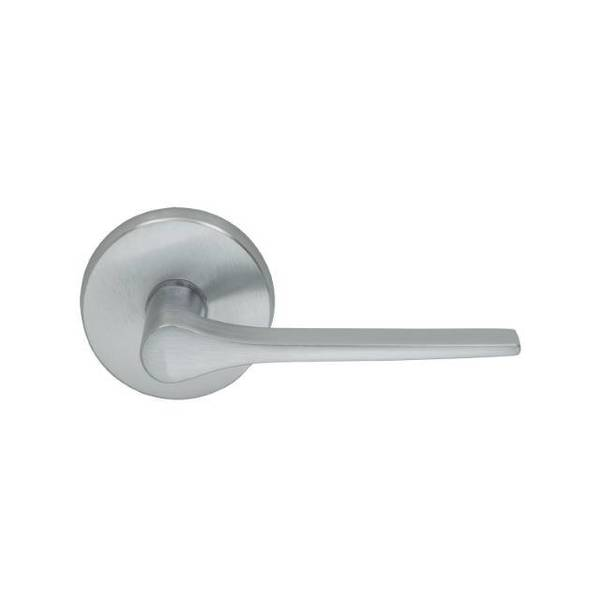 """Omnia Lever Pass 2-3/4"""" BS Full Lip  1-3/8"""" Door Satin Chrome 364 364/00AF.PA3"""