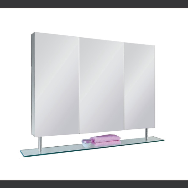 """Ketcham 38"""" x 26"""" Stainless Steel Surface Mounted with Shelf Medicine Cabinet 3722-SH"""