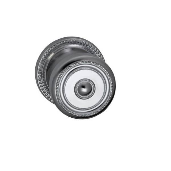 "Omnia Knob 2-5/8"" Rose Pass 2-3/4"" BS T  1-3/4"" Doors Bright Chrome 430 430/00C.PA2"