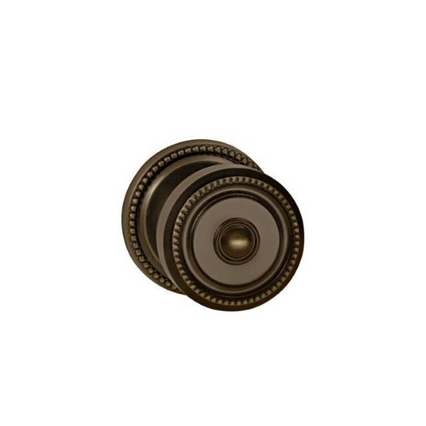 "Omnia Knob 2-5/8"" Rose Pass 2-3/8"" BS T  1-3/8"" Doors Shaded Bronze 430 430/00.PA4"