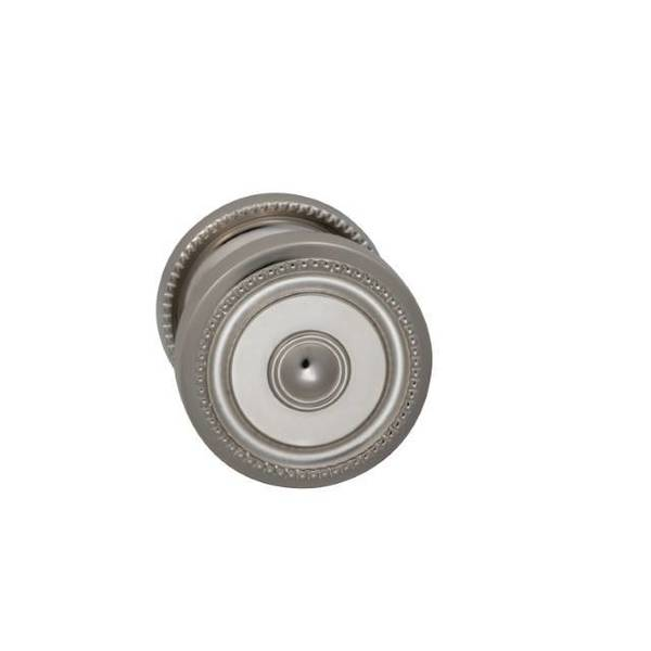 "Omnia Knob 2-3/16"" Rose Pass 2-3/8"" BS Full Lip  1-3/4"" Doors BR NKL 430 430/55BF.PA14"