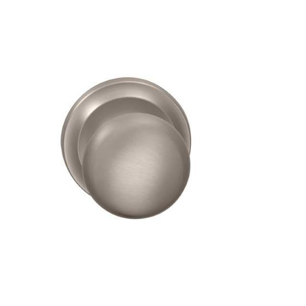 "Omnia Knob 2-5/8"" Rose Priv 2-3/8"" BS T  1-3/4"" Doors Satin Nickel 442 442/00B.PR15"
