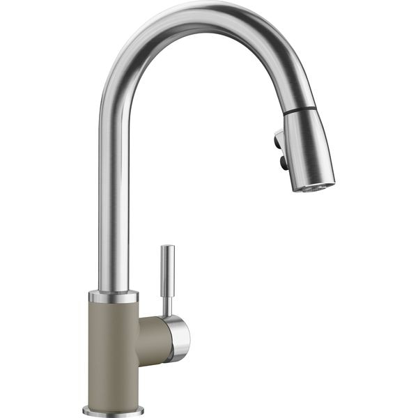 Blanco Kitchen Faucet, 1.5 gpm, Truffle/SS 442058