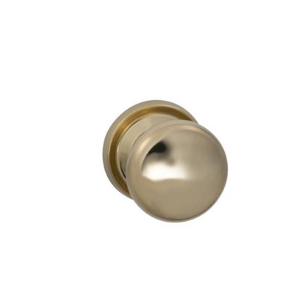 "Omnia Knob 2-3/16"" Rose Pass 234BS Full Lip 138DT ULQ Bright Brass 442 442/55AF.PA3A"