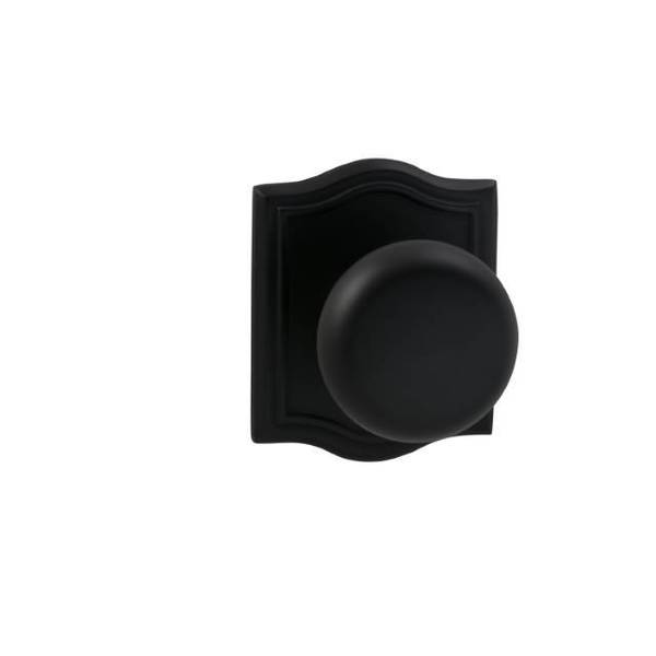 """Omnia Knob Arched Rose Pass Knob 2-3/4"""" BS T Strike Oil Rubbed Bronze 458 458AR/234T.PA10B"""