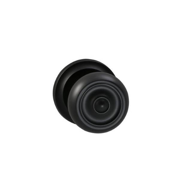 "Omnia Knob 2-5/8"" Rose Pass 2-3/4"" BS Full Lip  1-3/4"" Doors ORB 473 473/00CF.PA10B"
