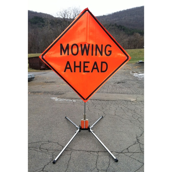 Eastern Metal Of Elmira Inc. Dual Spring Rigid Sign Stand,  Mid Size X-552-KL