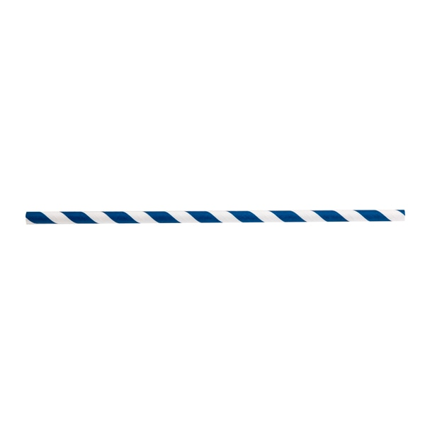"Tablecraft Products Company Straws, 7.75"", 8mm, Blue Striped, Pap, PK500 700120"
