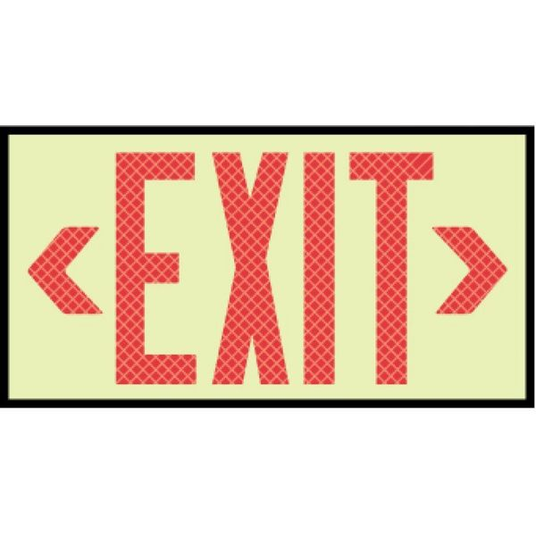 Nmc Glo Exit Red Reflective Framed 7310