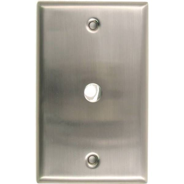 Rusticware Single Cable Switch Plate Satin Nickel 781SN