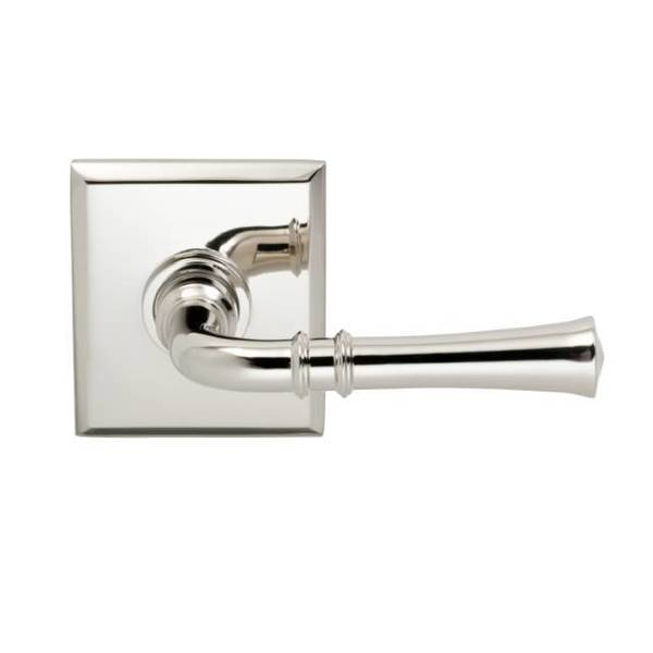 """Omnia Lever Rectangular Rose Pass Lever 2-3/4"""" BS T Strike Bright Nickel 785 785RT/234T.PA14"""