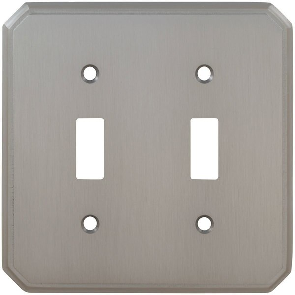 Omnia Double Toggle Traditional Switchplate Shaded Bronze 8014/D.SB