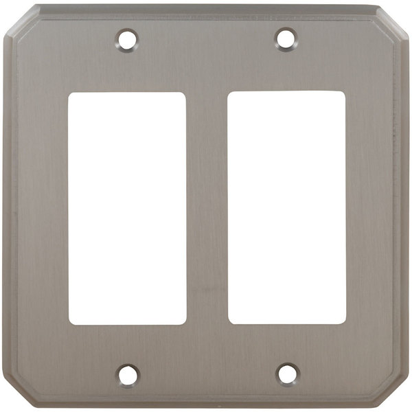 Omnia Double Rocker Traditional Switchplate Shaded Bronze 8024/D.SB