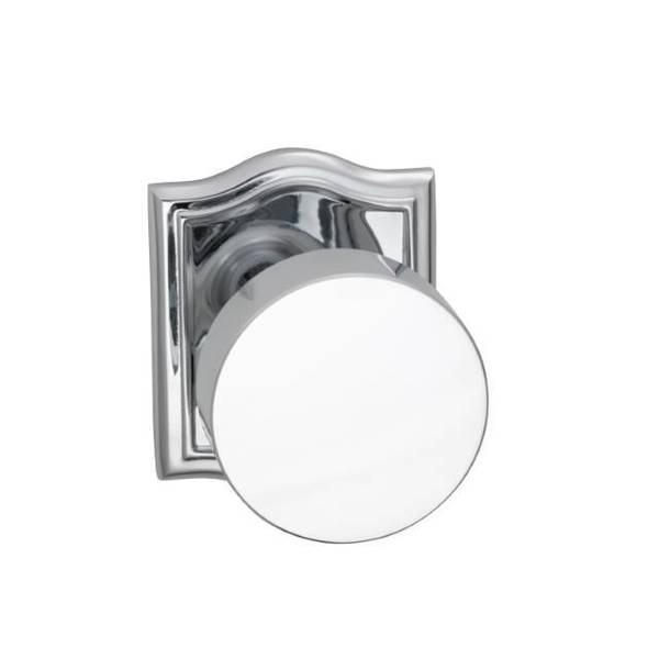 Omnia Dummy Pair Knob Bright Chrome 935 with Arched Rose 935AR/0.PD26