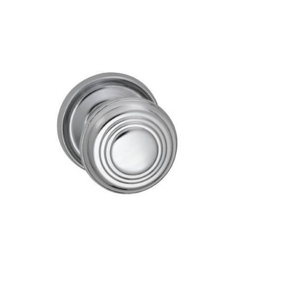 "Omnia Knob 2-3/16"" Rose Pass 2-3/4"" BS Full Lip  1-3/4"" Doors BR CH 970 970/55CF.PA2"
