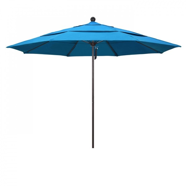 "March Patio Umbrella,  Octagon,  107"" H,  Sunbrella Fabric,  Canvas Cyan ALTO118117-56105-DWV"