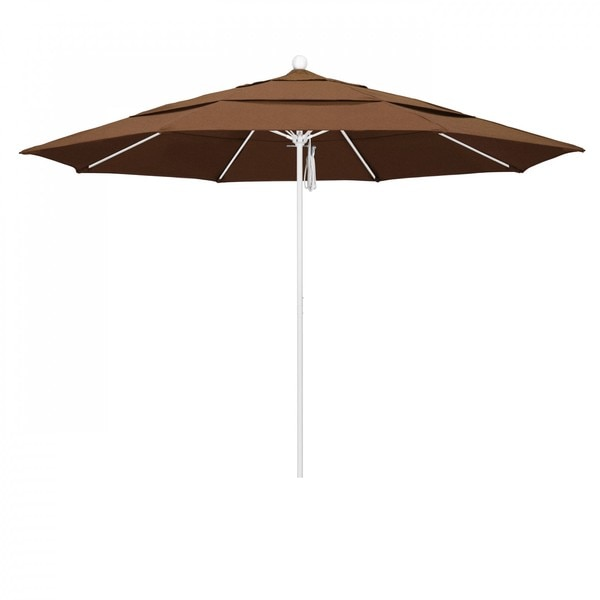 "March Patio Umbrella,  Octagon,  107"" H,  Sunbrella Fabric,  Teak ALTO118170-5488-DWV"